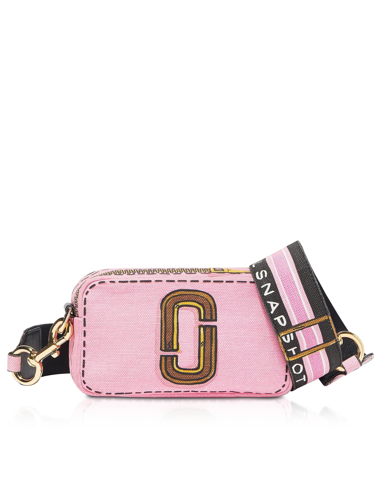 Marc Jacobs Designer Handbags, Cotton & Linen The Trompe L'oeil Snapshot Camera Bag