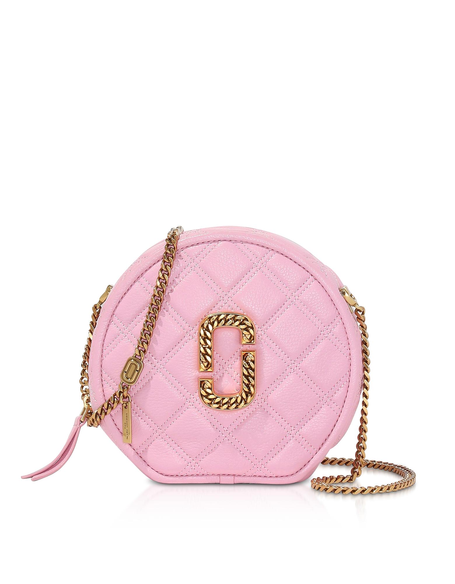 Marc Jacobs Designer Handbags, Leather The Status Round Crossbody Bag