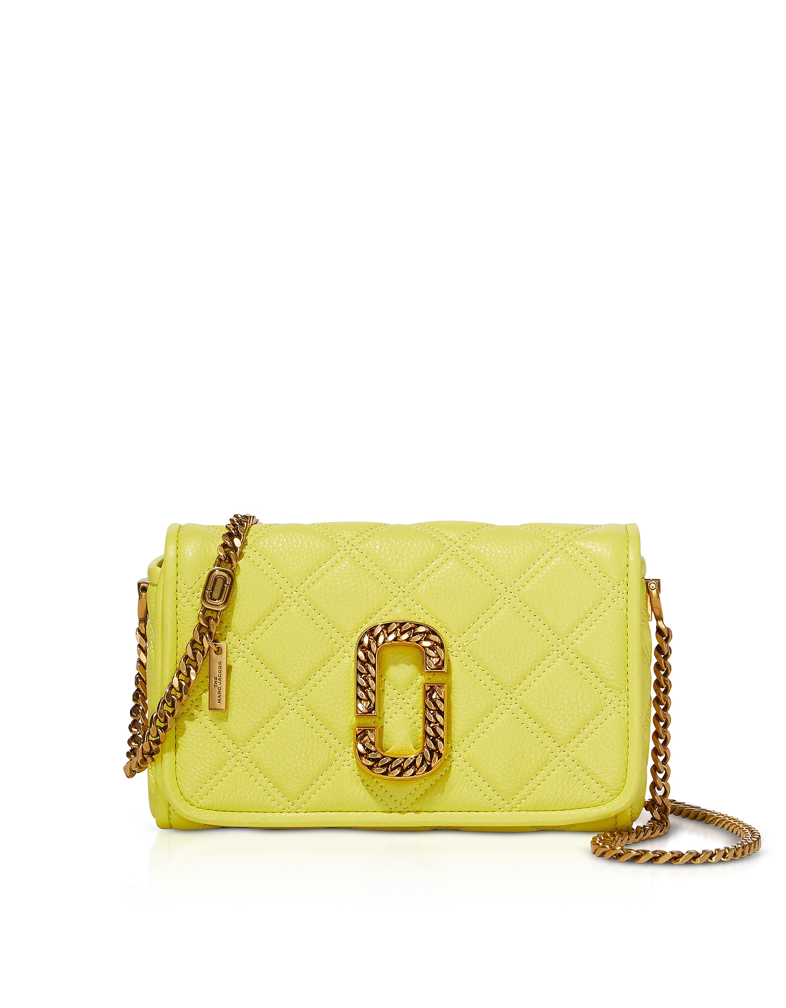 Marc Jacobs Designer Handbags, The Status Flap Quilted Leather Shoulder Bag