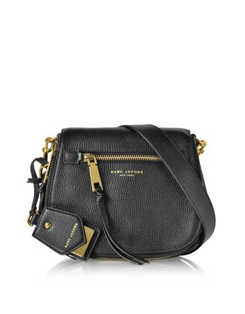 marc jacobs female 188971 recruit leather small saddle bag