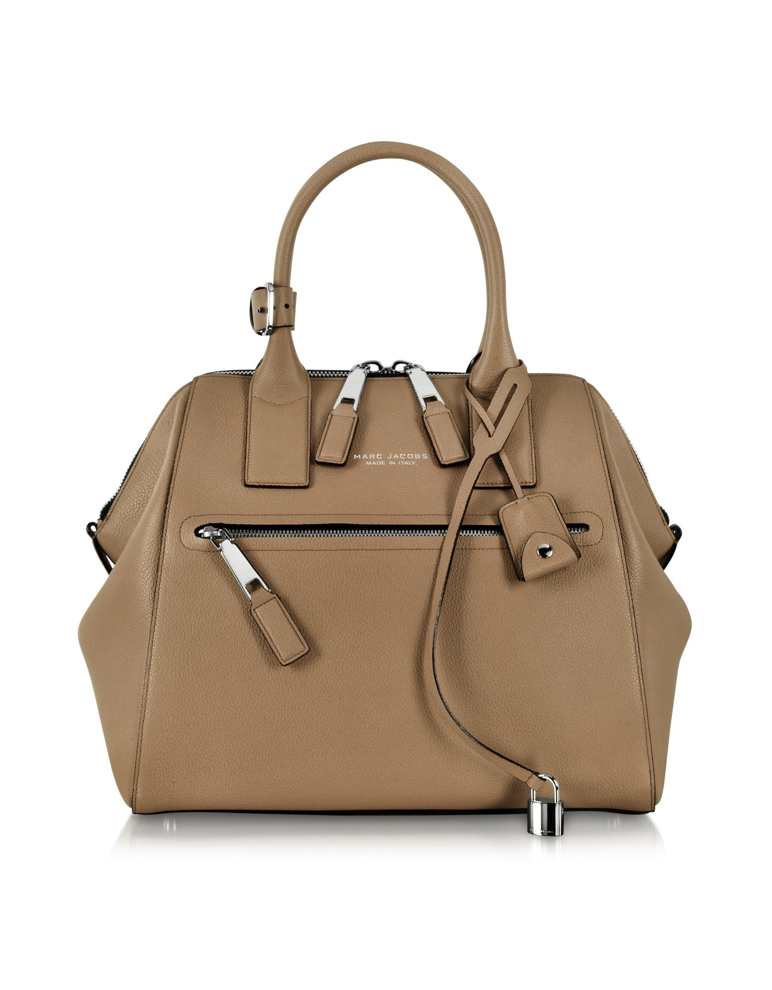 Large Incognito Brown Textured Leather Tote Bag - Marc Jacobs
