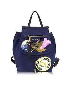 Blue Trooper Embellished Nylon Zip Backpack - Marc Jacobs