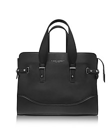 The Rivet Black Leather Tote - Marc Jacobs