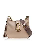 Marc Jacobs Interlock Small Hobo Bag in Pelle Taupe con Logo - marc jacobs - it.forzieri.com