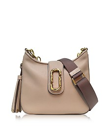 Interlock Taupe Leather Small Hobo Bag - Marc Jacobs
