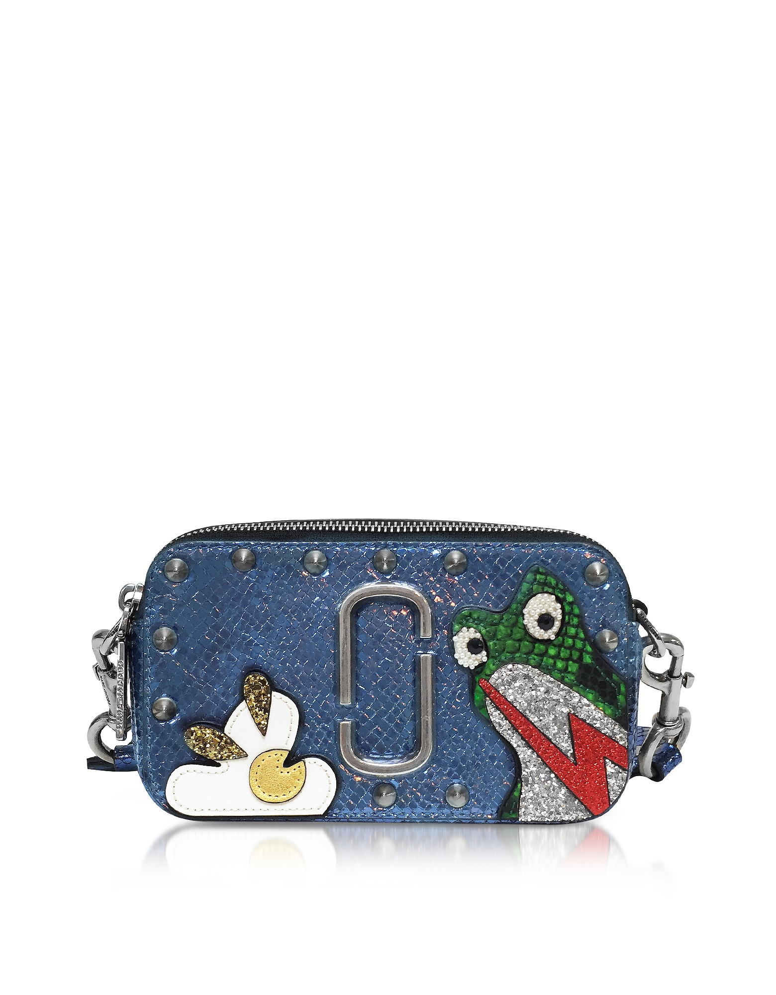 Marc Jacobs Snapshot Frog Camera Bag- Темно-синяя Кожаная Сумка на Плечо