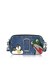 Navy Blue Leather Frog Snapshot Camera Bag - Marc Jacobs