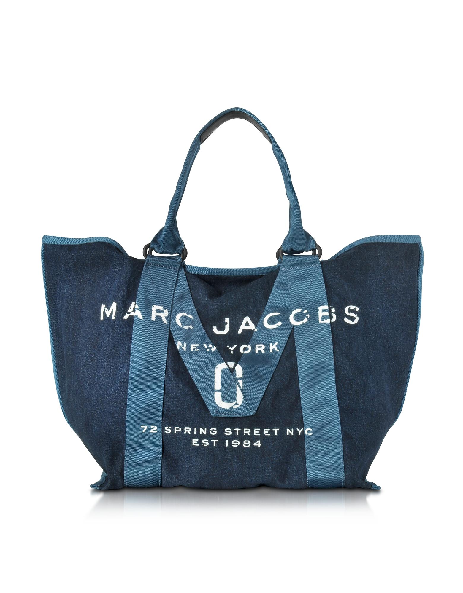 Marc Jacobs Handbags, Denim Blue New Logo Tote Bag