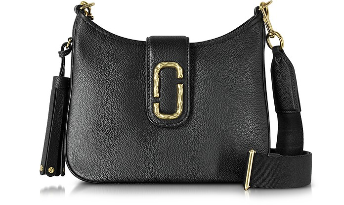 Interlock Black Leather Small Hobo Bag - Marc Jacobs
