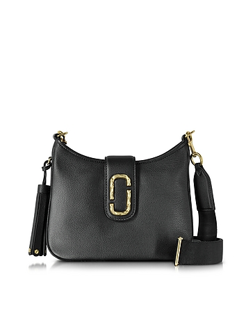 Marc Jacobs - Interlock Black Leather Small Hobo Bag