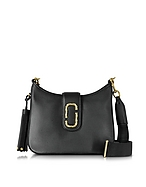 Marc Jacobs Interlock Small Hobo Bag in Pelle Nera con Logo - marc jacobs - it.forzieri.com
