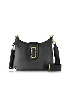 Interlock Black Leather Small Hobo Bag - Marc Jacobs