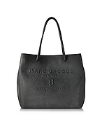Marc Jacobs Logo Shopper East-West in Pelle Saffiano Nera - marc jacobs - it.forzieri.com