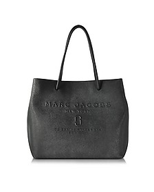 Black Saffiano Leather Logo Shopper - Marc Jacobs