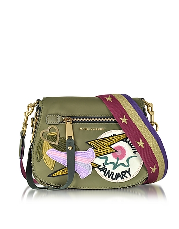 Marc Jacobs - Military Green Multi Nylon Patchwork Small Nomad Shoulder Bag