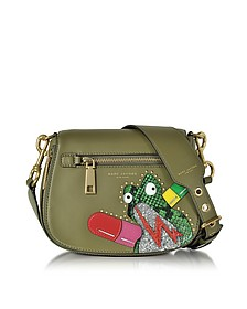 Army Green Leather Verhoeven Frog Small Nomad Shoulder Bag - Marc Jacobs
