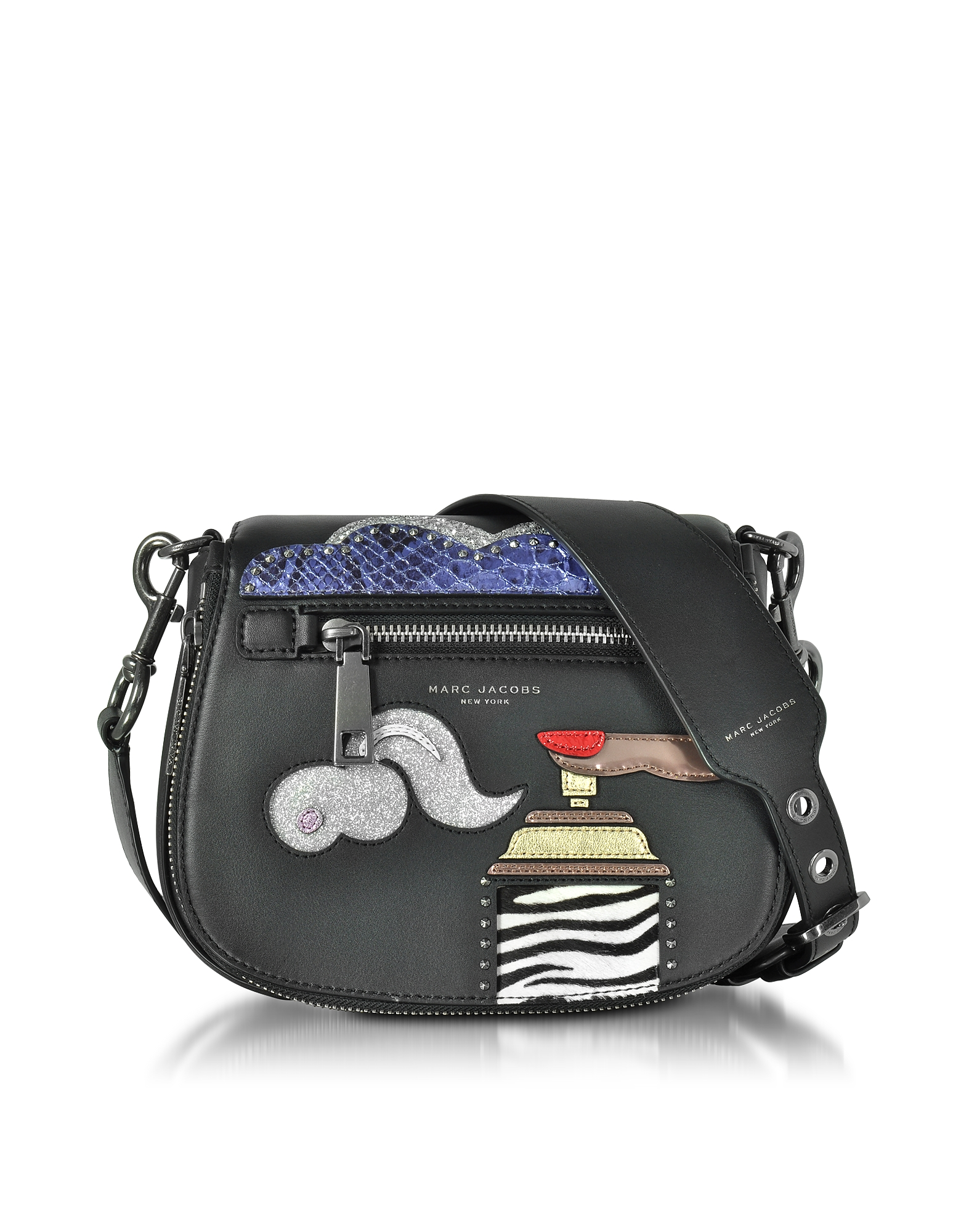 Фото Verhoeven - Маленькая Черная Кожаная Сумка на Плечо. Купить с доставкой