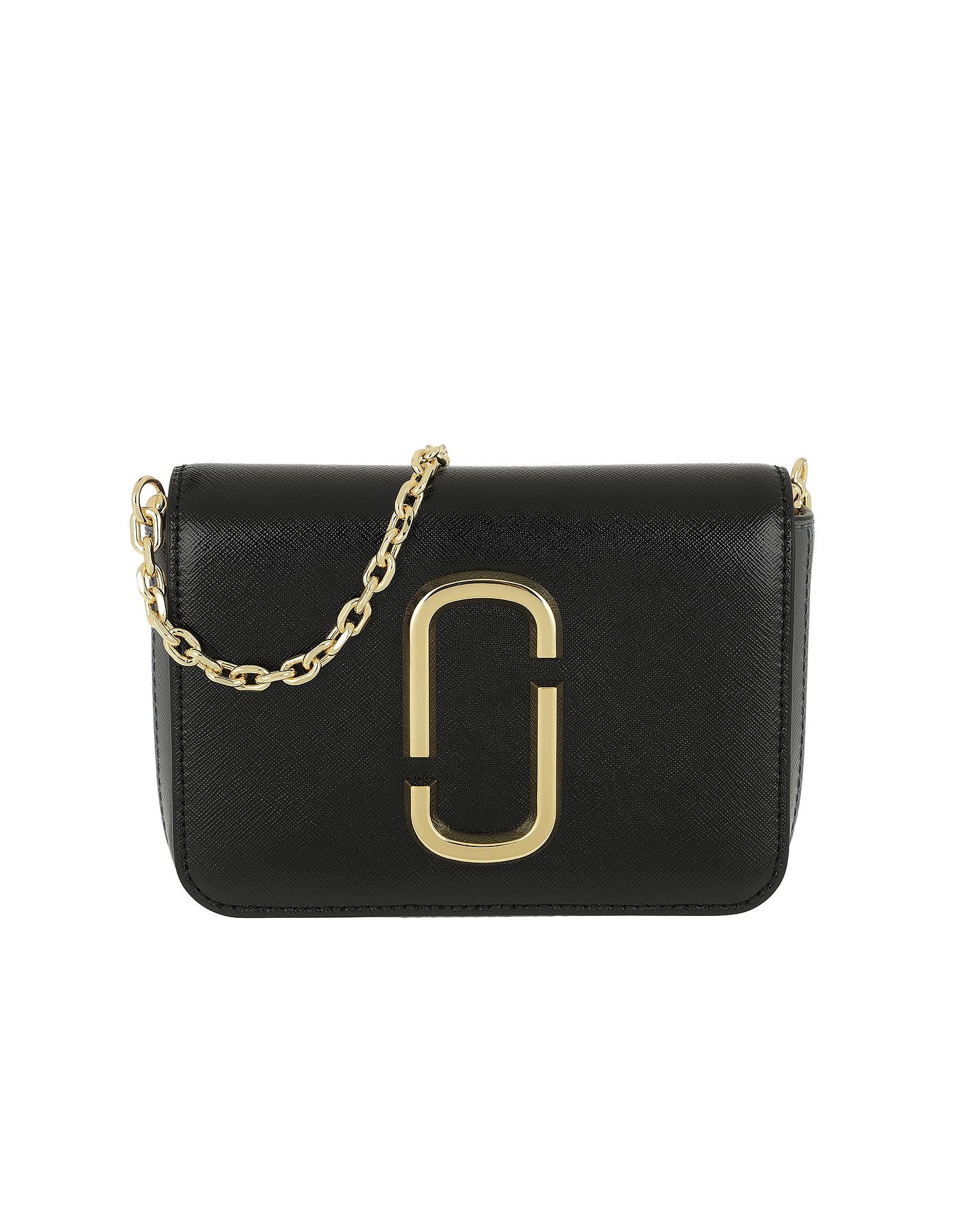 Marc Jacobs Designer Handbags, Logo Strap Hip Shot Bag Black/Multi