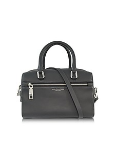 West End Storm Grey Leather Small Bauletto - Marc Jacobs