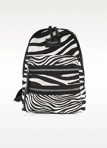 Zebra Printed Biker Backpack - Marc Jacobs