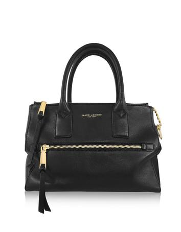 marc jacobs female 188971 recruit east west black leather tote