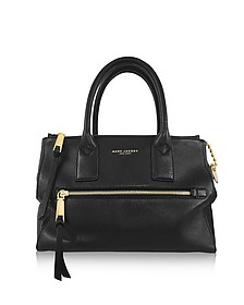 Recruit East West Black Leather Tote - Marc Jacobs