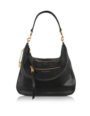 marc jacobs female 188971 recruit black leather hobo