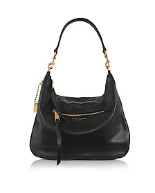 Recruit Black Leather Hobo - Marc Jacobs