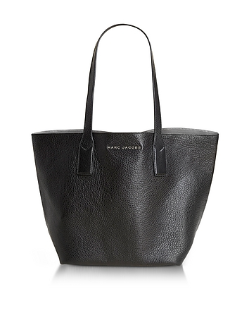 Marc Jacobs - Wingman Black and Silver Leather Shopping Bag