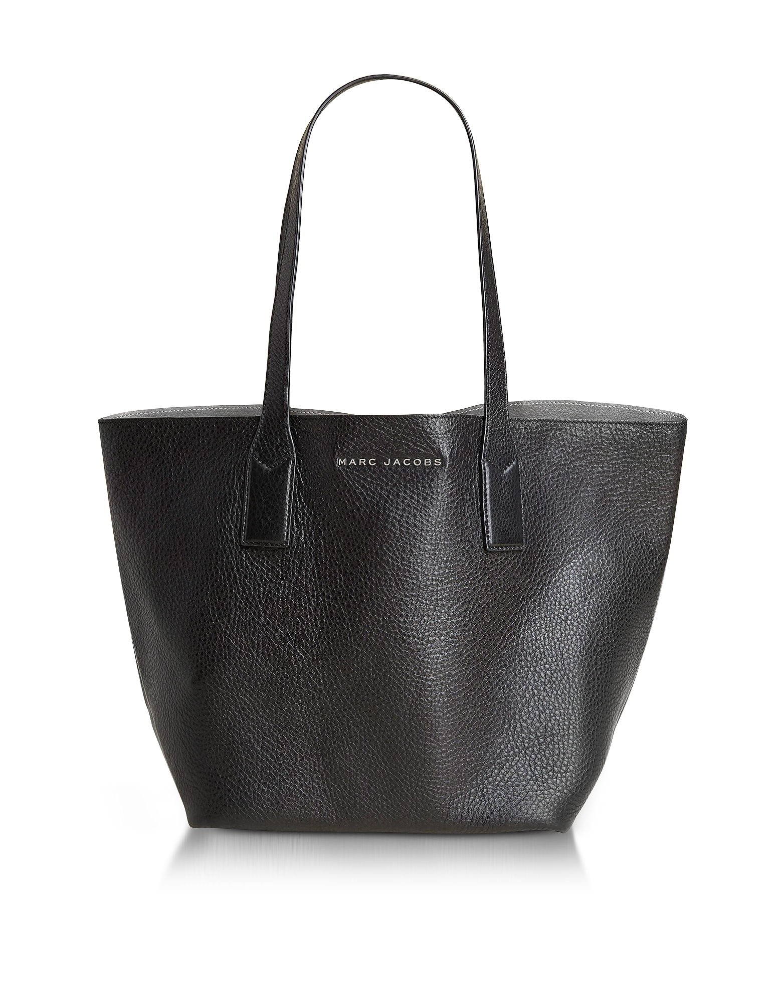 Marc Jacobs Handbags, Wingman Black and Silver Leather Shopping Bag