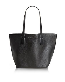 Wingman Black and Silver Leather Shopping Bag - Marc Jacobs