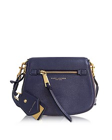 Recruit Midnight Blue Leather Small Saddle Bag - Marc Jacobs