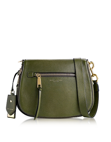 Marc Jacobs - Army Green Recruit Leather Saddle Bag