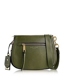 Army Green Recruit Shadow Leather Saddle Bag - Marc Jacobs