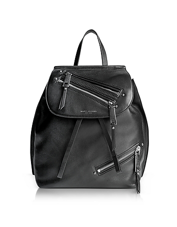 Marc Jacobs - Black Leather Zip Pack Backpack