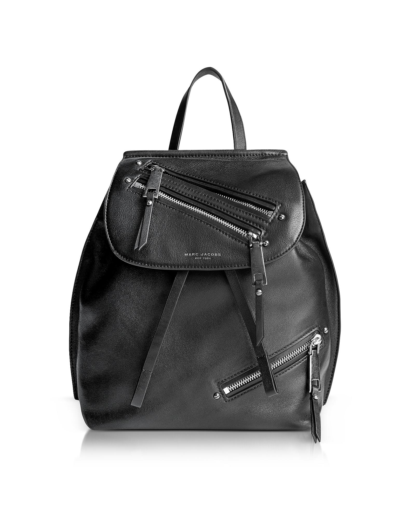 Фото Zip Pack -  Черный Кожаный Рюкзак. Купить с доставкой