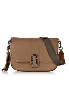 Courier Oak Leather Shoulder Bag - Marc Jacobs