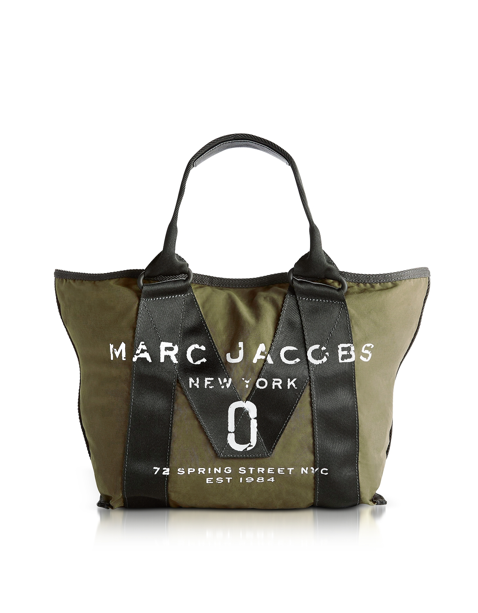 Marc Jacobs Handbags, New Logo Army Green Cotton Tote