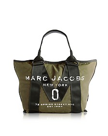 New Logo Army Green Cotton Tote - Marc Jacobs
