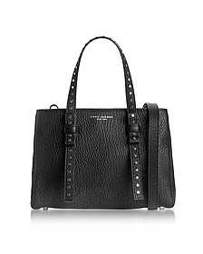 Black Leather Mini T Studded Tote - Marc Jacobs