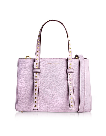 Marc Jacobs - Pale Lilac Leather Mini T Studded Tote