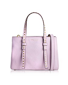 Pale Lilac Leather Mini T Studded Tote - Marc Jacobs