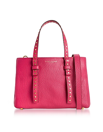Hibiscus Leather Mini T Studded Tote