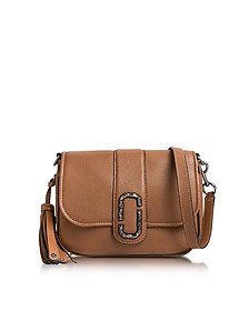Oak Pebbled Leather Interlock Small Courier Crossbody Bag - Marc Jacobs