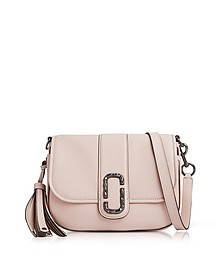 Pale Pink Pebbled Leather Interlock Small Courier Crossbody Bag - Marc Jacobs