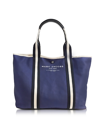 Midnight Blue Canvas EW Tote