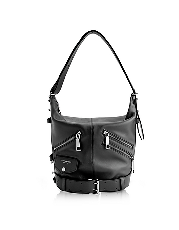 Marc Jacobs - Black Leather The Sling Motorcycle Shoulder Bag