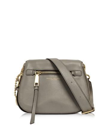 marc jacobs female  recruit leather small saddle bag