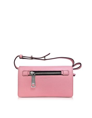 marc jacobs female pink fleur gotham wallet wleather strap