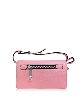 Pink Fleur Gotham Wallet w/Leather Strap